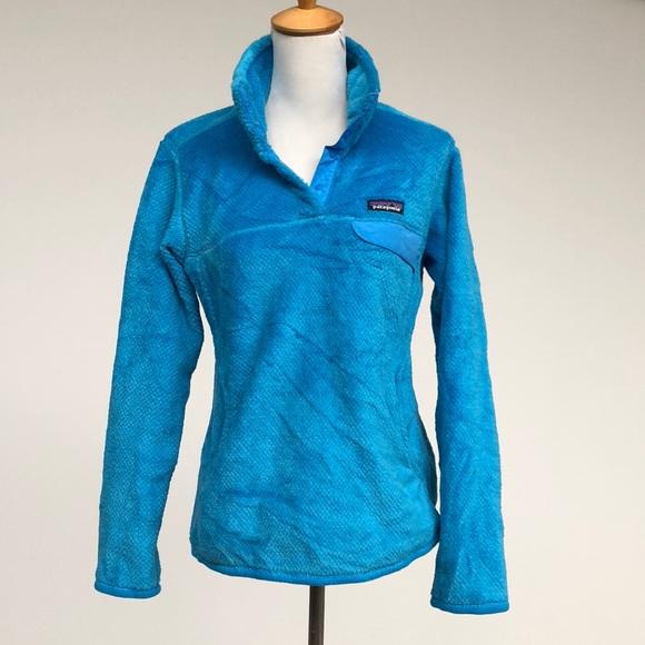 8c7ece330fc Patagonia Aqua Blue M Fleece Pullover. M 5b7dda66f414522fa7f17623
